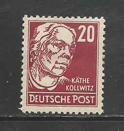 German DDR Hinged Scott #128 Catalog Value $6.45