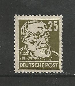 German DDR Hinged Scott #129 Catalog Value $129.95