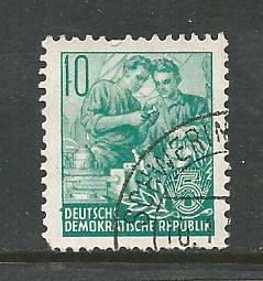 German DDR Used Scott #159 Catalog Value $.25