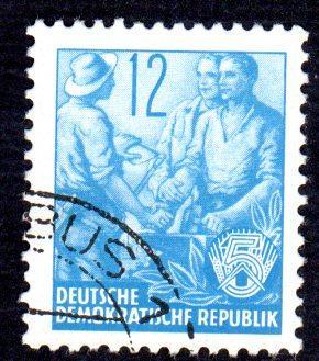 German DDR Used Scott #160 Catalog Value $.25