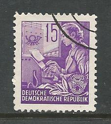 German DDR Used Scott #161 Catalog Value $.25