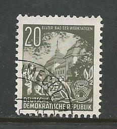 German DDR Used Scott #163 Catalog Value $.25