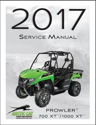 2017 Arctic Cat Prowler 700 XT / Prowler 1000 XT UTV Service Manual on a CD