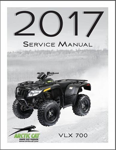 2017 Arctic Cat VLX 700 ATV Service Manual on a CD