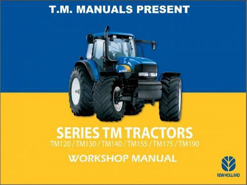 New Holland TM120 TM130 TM140 TM155 TM175 TM190 Tractor Service Manual on a CD