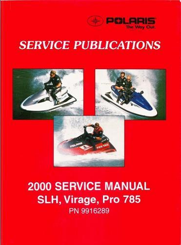 2000 Polaris SLH / Virage / Pro 785 PWC Personal Watercraft Service Manual CD