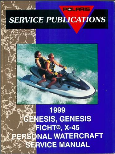 1999 Polaris GENESIS, GENESIS FICHT, X-45 Personal Watercraft Service Manual CD