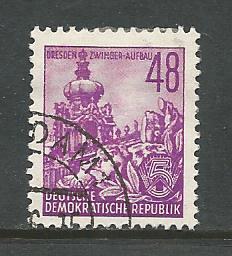 German DDR Used Scott #168 Catalog Value $.25