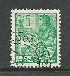 German DDR Used Scott #188 Catalog Value $.25