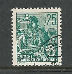 Germany DDR Used Scott #197 Catalog Value $.25