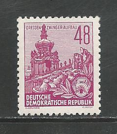German DDR Hinged Scott #201 Catalog Value $2.16