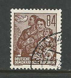 Germany DDR Used Scott #204 Catalog Value $.25