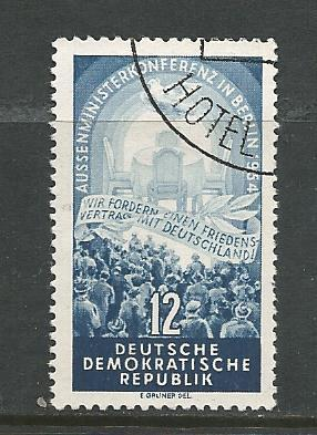 Germany DDR Used Scott #206 Catalog Value $.75