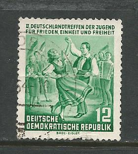 Germany DDR Used Scott #210 Catalog Value $.65