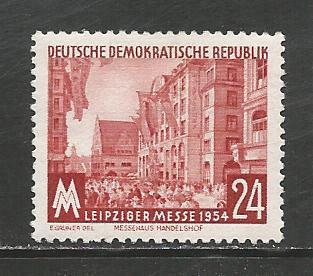 German DDR Hinged Scott #214 Catalog Value $.60