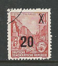 Germany DDR Used Scott #220 Catalog Value $.25