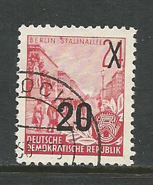 Germany DDR Used Scott #223A Catalog Value $.45