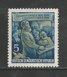German DDR Hinged Scott #259 Catalog Value $.25