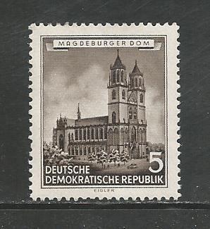German DDR Hinged Scott #265 Catalog Value $.60
