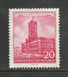 German DDR Hinged Scott #268 Catalog Value $.60
