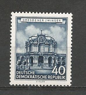 German DDR Hinged Scott #270 Catalog Value $1.20