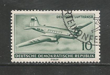 Germany DDR Used Scott #281 Catalog Value $.35