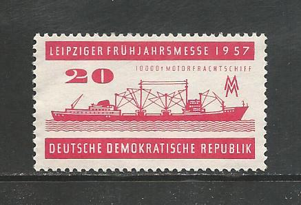 German DDR Hinged Scott #323 Catalog Value $.25