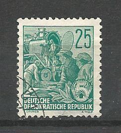 Germany DDR Used Scott #334 Catalog Value $.25