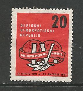German DDR Hinged Scott #364 Catalog Value $.50