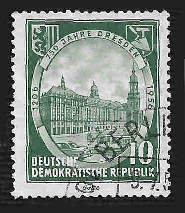 Germany DDR Used Scott #291 Catalog Value $.25