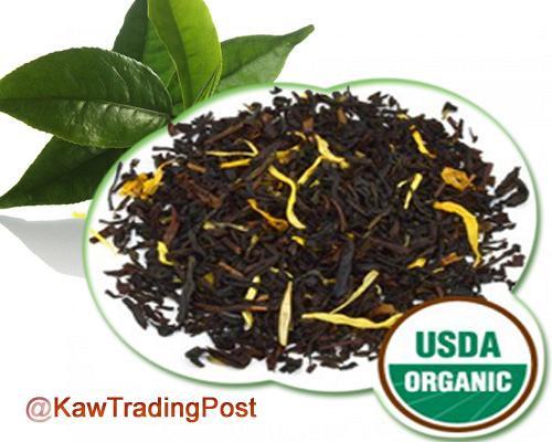 Organic Peach Black Tea 16 oz 1 Pound Excellent for Cold / Hot Brew Healthy  Benefits