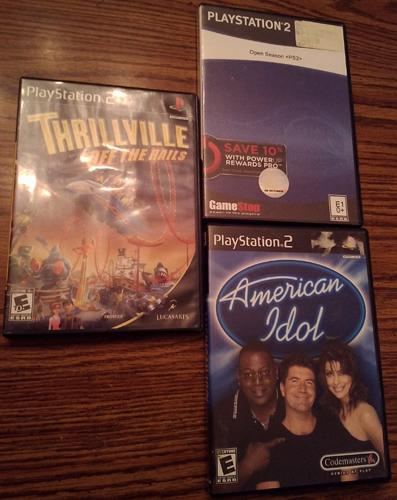Lot of 3 PS2 games: Thrillville, Open Season, American Idol