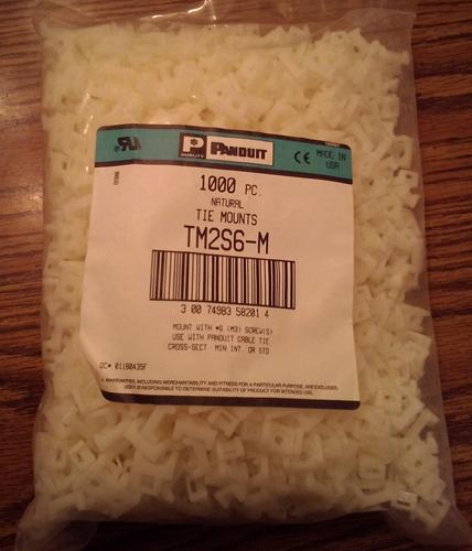 Lot of 1000: Panduit TM2S6-M Natural Tie Mounts :: FREE Shipping