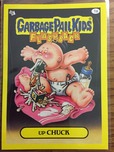 Garbage Pail Kids 2011 Flashback 3 Series Up Chuck 1a