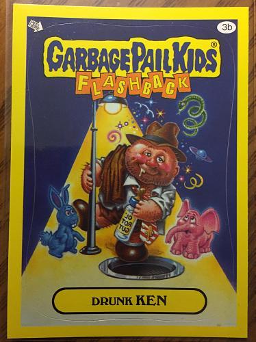 Garbage Pail Kids 2011 Flashback 3 Series Drunk Ken 3b Yellow Border