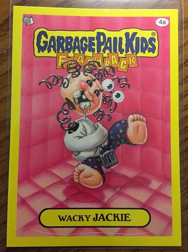 Garbage Pail Kids 2011 Flashback 3 Series Wacky Jackie 4a Yellow Border