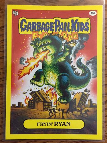 Garbage Pail Kids 2011 Flashback 3 Series Fryin' Ryan 8a Yellow Border