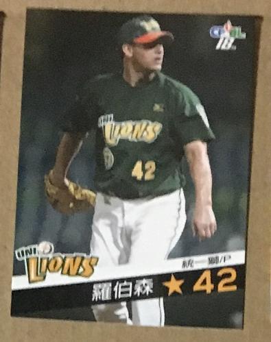 Jeriome Robertson 2008 , Taiwan baseball card