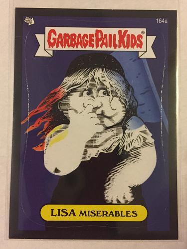 Garbage Pail Kids BNS3 2013 Lisa Miserables 164a Black Border GPK