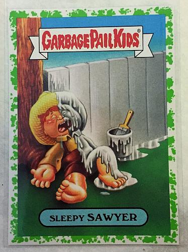 Garbage Pail Kids American AS Apple Pie 2016 Sleepy Sawyer 9b Green Puke GPK