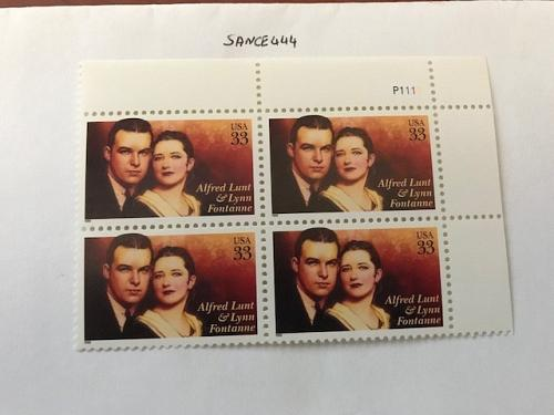 USA United States Alfred Lunt block mnh 1999 #2