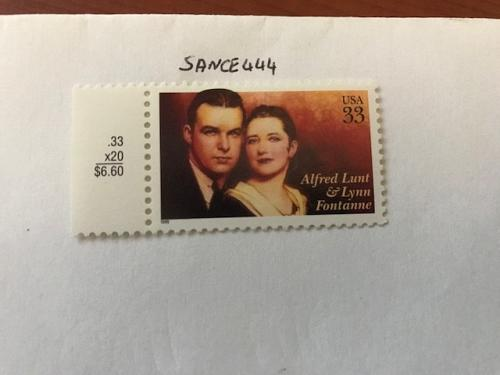 USA United States Alfred Lunt mnh 1999 #2