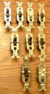 Lot of 9: GE 2 Wire Toggle Switches :: FREE Shipping