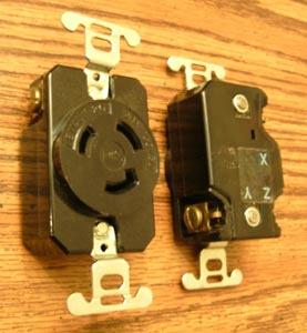 Lot of 3: P&S L-1120R 20A 250V 3PH Turnlok® Locking Receptacle :: FREE Shipping