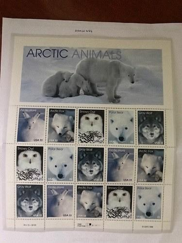 USA United States Arctic animals mnh sheet 1999