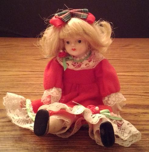 Vintage Ceramic or Porcelain Head Doll