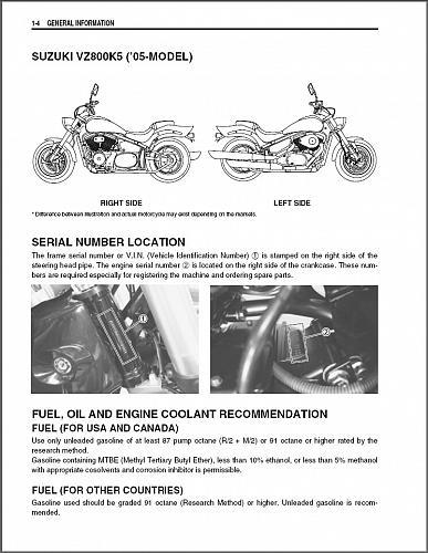 2005-2009 Suzuki VZ800 Marauder 800 Service Manual on a CD