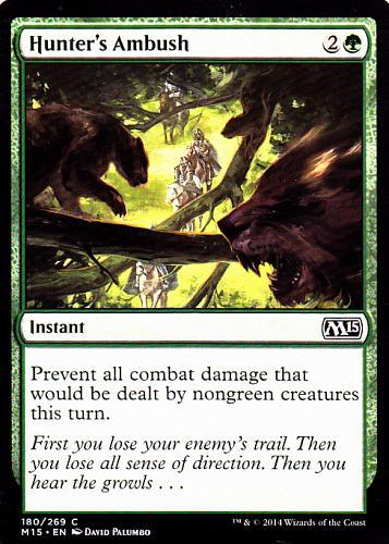 Hunter's Ambush - Green - Instant - Magic the Gathering Trading Card