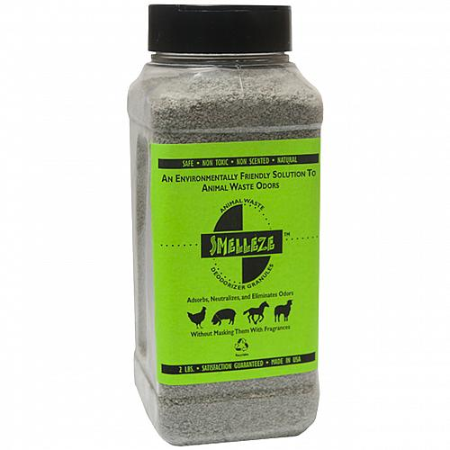 SMELLEZE Eco Animal Waste Odor Removal Deodorizer: 50 lb. Granules Rid Stench