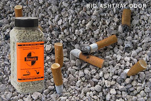 SMELLEZE Natural Ashtray Smell Remover Deodorizer: 2 lb. Gran. Rid Smoke Stench